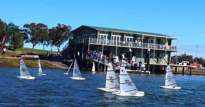 2015 RC Laser National Championships boats and club house