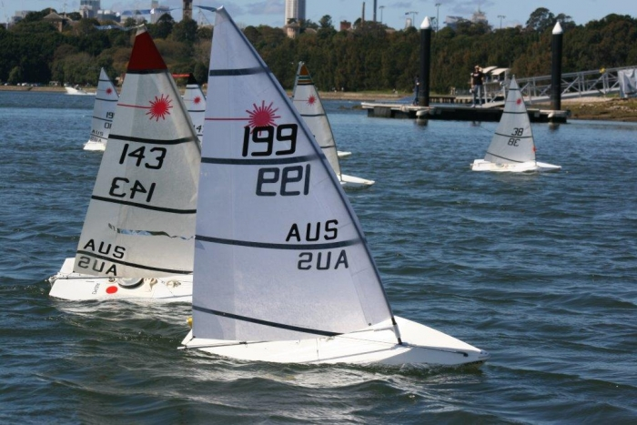 2015 RC Laser National Championships rounding the mark