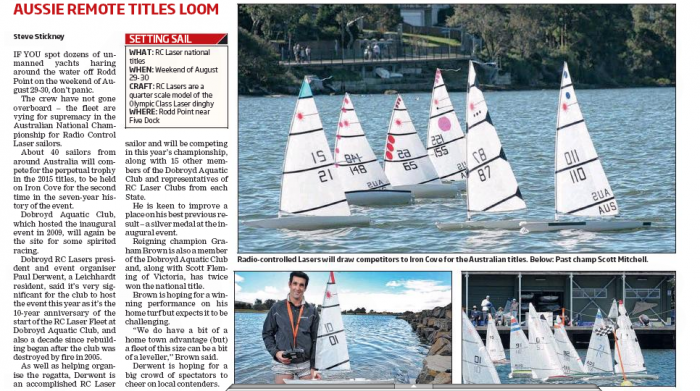 RC Laser 2015 championships